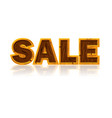 wooden letters forming the word sale white vector image