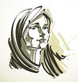 young elegant female art image Black an vector image vector image