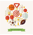 Flat Style Sport Recreation and Competition vector image