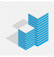 building isometric icon vector image