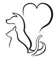 pet caring outline logo vector image
