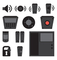 simple set of detectors icons for window fire vector image