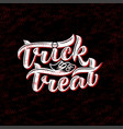 trick or treat halloween on vector image