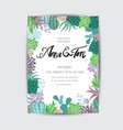 wedding graphic set with succulentswreath and vector image