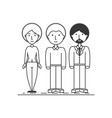 group business people working together vector image