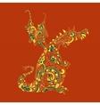 Ornate dragon vector image