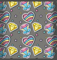 90s background cartoons vector image vector image