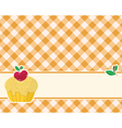 abstract brown-yellow checkered background decorat vector image vector image