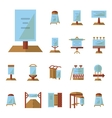 Advertising boards flat icons vector image vector image