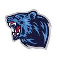 angry bear roaring logo mascot template vector image vector image
