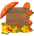 Autumn Board vector image vector image