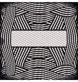 border with striped lines in monochrome vector image