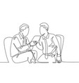 business meeting concept one continuous line vector image