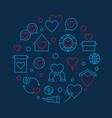 charitable trust circular concept linear vector image