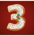 Christmas cookies numbers vector image vector image
