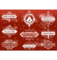 Christmas labels and banners set vector image vector image