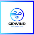 circle wind wave logotype vector image