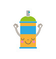 colorful emoji cute happy aerosol spray vector image