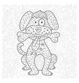 coloring page with cartoon doodle animal vector image