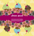 Colour postcard of cupcakes vector image vector image