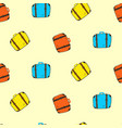 cute colorful seamless suitcases pattern vector image vector image