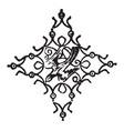 doodad is a dark line pattern vintage engraving vector image vector image