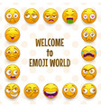 emoji frame funny background with comic vector image vector image