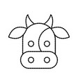 farm cow animal mammal domestic vector image