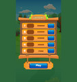 farm fruits level completed screen - mobile game vector image