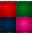 Flash Backgrounds set vector image vector image