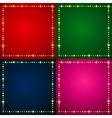 Flash Backgrounds set vector image