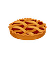 flat icon of freshly baked pie with cherry vector image vector image