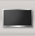 flat led monitor computer or frame isolated vector image
