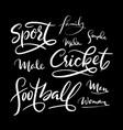 football sport hand written typography vector image vector image