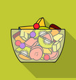 fruit salad icon in flat style isolated on white vector image