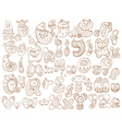 Funny doodle cartoon alphabet vector image vector image