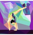 girl gymnast does exercises with the ball vector image vector image