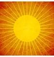 Grunge sunburst retro background vector image