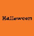 happy halloween text banner on orange background vector image