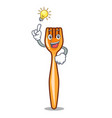 have an idea plastic fork on cartoon image funny vector image vector image