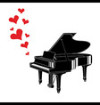 Heart love music piano playing a song vector image vector image