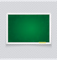 horizontal green chalk board made white wood vector image vector image