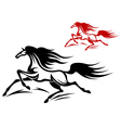 horse tattoos vector image