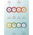 infographic business management template icons