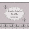 Invitation card with classic vintage ornaments vector image