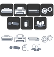 Isolated flat icons for office equipment store vector image vector image