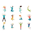 Jumping People Set vector image vector image