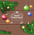 merry christmas flyer holiday decorations design vector image vector image