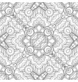 monochrome seamless pattern with mosaic floral vector image vector image
