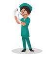 nurse cartoon character vector image